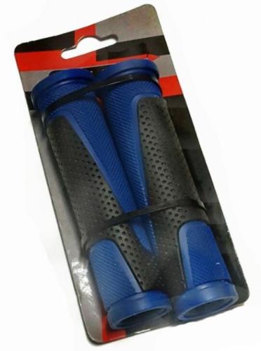Ручки руля (грипсы) 125мм, черно-синие G305