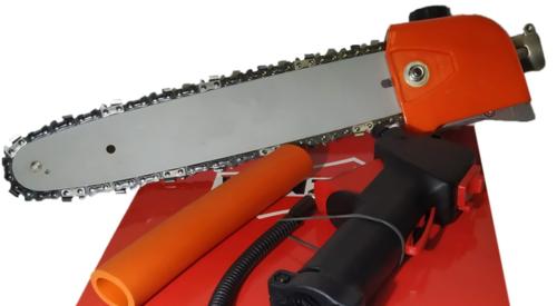 Насадка для бензотриммера - пила (под штангу 28мм 9 шл) с ручкой газа