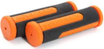 Ручки руля (грипсы) 110мм, черно-оранжевые Novatrack
