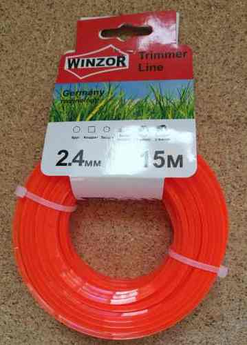 Леска 2,4*15 квадрат (оранжевый) Winzor
