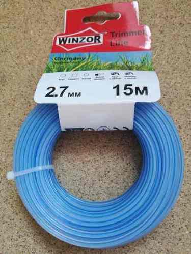 Леска 2,7*15 круг с жилой(полупрозрачный с синей жилой) Winzor