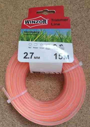 Леска 2,7*15 квадрат с жилой(полупрозрачный с оранжевой жилой) Winzor