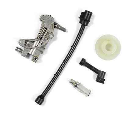 Маслонасос для бензопилы 4500/5200 набор(насос,шестерня привода,2 шланга,фильтр)