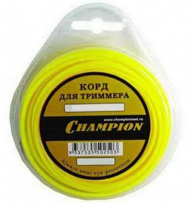Леска для триммера Champion, 3.0 мм *12м  Round Pro (круглый)C7029