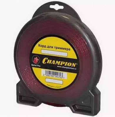 Леска для триммера Champion, 3.0 мм*15м (витой), Spiral Pro C5051