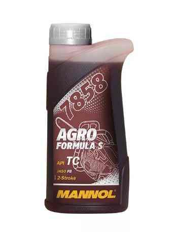 Масло MANNOL 1л (для 2-х тактных бензопил/триммеров,полусинтетика,красное)