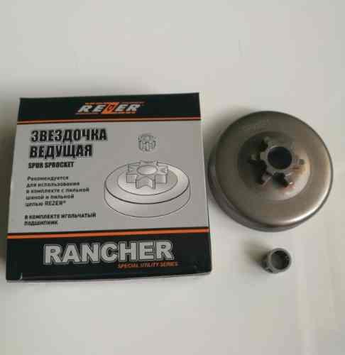Барабан сцепления литой REZER Rancher для бензопилы Partner 340S/350S/360S (3/8)-6