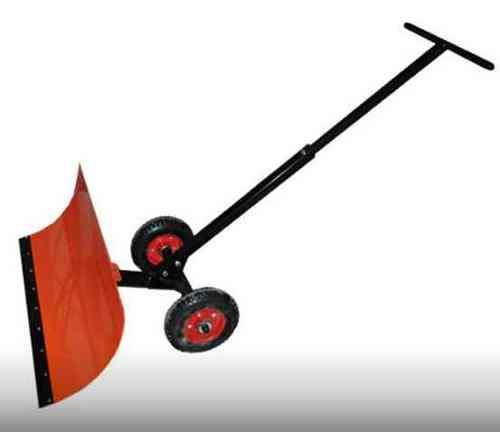 Лопата снегоуб. на колесах ЭлектроМаш(ковш мет 2мм,700*360, 2 колеса пневмо 3.00-4,рукоятка 1000мм)