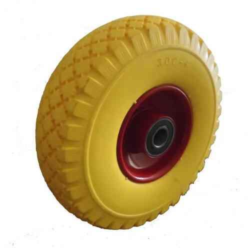 Колесо полиуретановое 3.00-4 ось 20/75 (металл. диск)