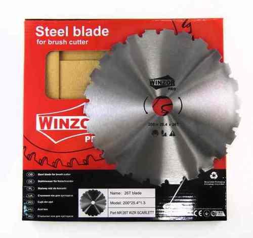Нож для кустореза 200/1,3x26T Winzor PRO (Пильный, без победита)