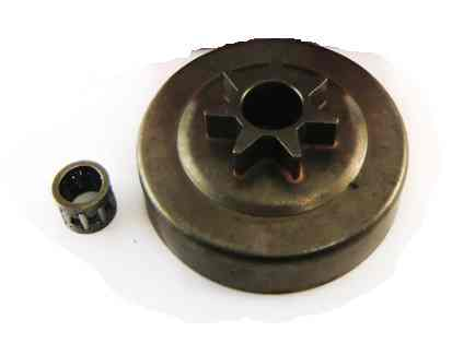 Барабан сцепления литой для бензопилы Хускварна Husqvarna 137/142  (0,325,с подшипником)