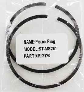 Поршневое кольцо для бензопилы Штиль Stihl 261 (2 шт в комплекте)