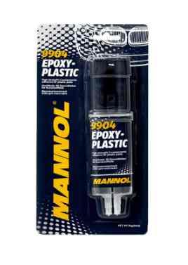 Клей двухкомпонентный MANNOL 9904 Epoxy-Plastic (для пластмасс) 30г
