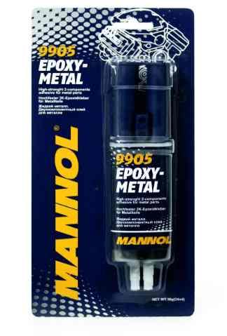Клей двухкомпонентный MANNOL 9905 Epoxy-Metall (жидкий металл) 30г