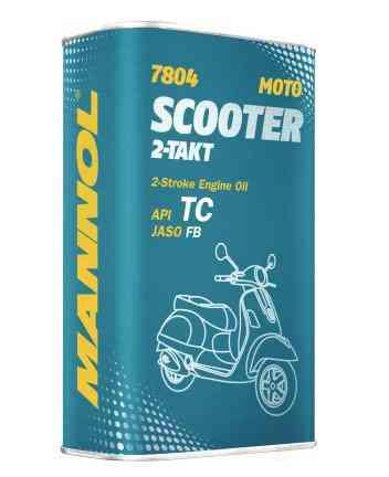 Масло Mannol 7804 2-Takt Scooter (зеленое) 1л