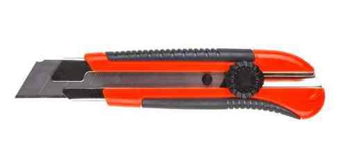 Нож малярный 25мм (металлическая направляющая, винтовой фиксатор)
