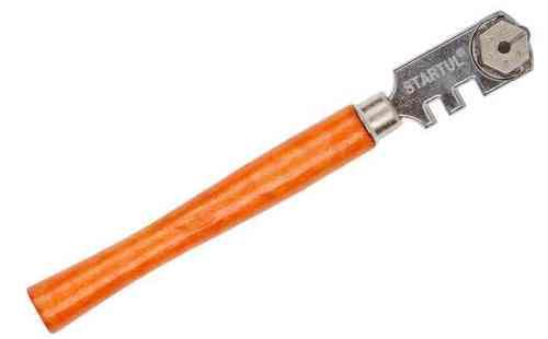 Стеклорез 6-роликовый (с деревянной ручкой)