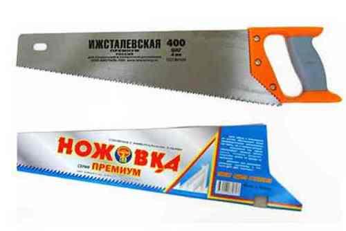 Ножовка по дереву Ижсталевская (400мм, зуб 5мм)