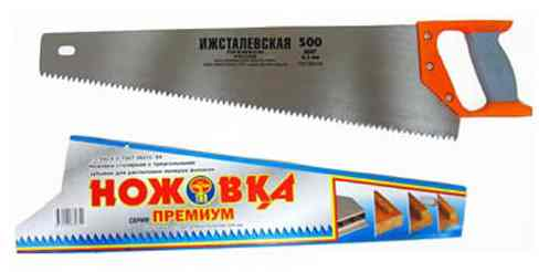 Ножовка по дереву Ижсталевская (500мм, зуб 6,5мм)