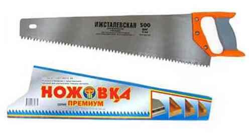 Ножовка по дереву Ижсталевская (500мм, зуб 8мм)