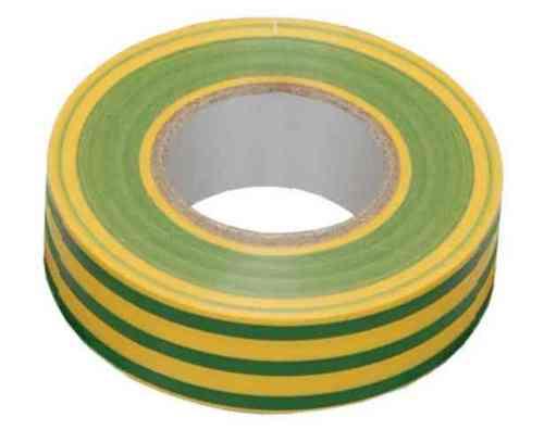 Изолента ПВХ 18ммх20м желто-зеленая