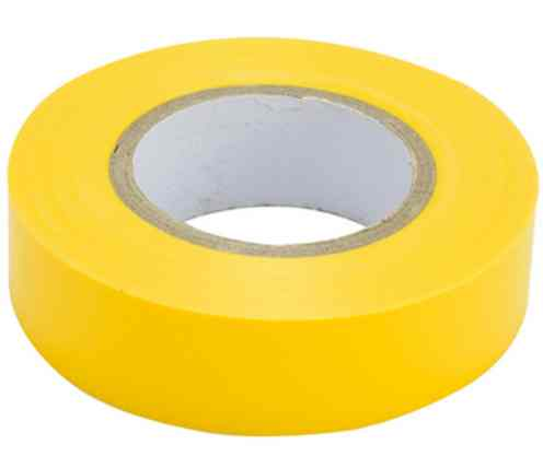 Изолента ПВХ 18ммх20м желтая