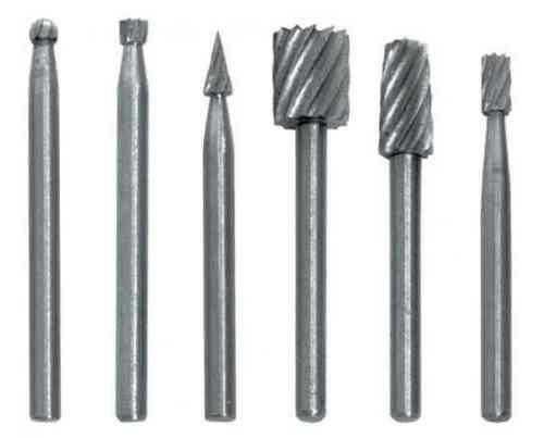Набор шарошек по металлу (быстрореж.сталь, 6шт)