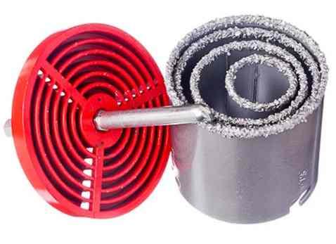 Алмазная коронка по керамической плитке Vertex (набор 33,53,67,73мм)