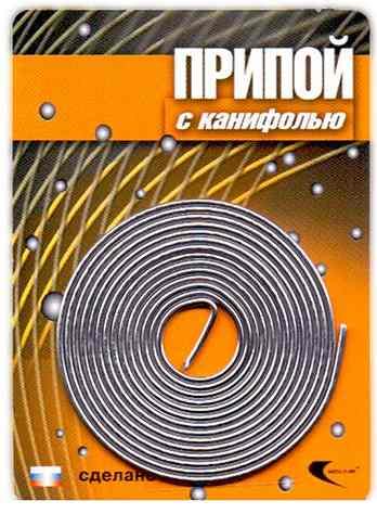 Припой ПОС 61 (трубка, спираль ф1мм, с канифолью, длина 1м (Векта)