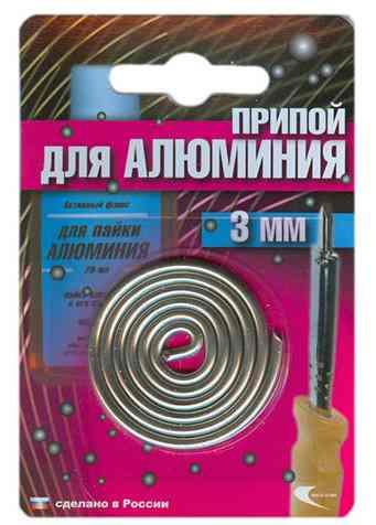 Припой AL-220 спираль ф3мм для низкотемпературной пайки алюминия (Векта)