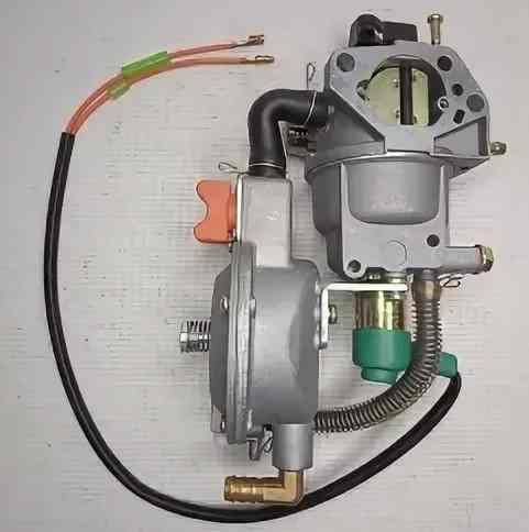 Карбюратор 188/190F (ГАЗОВЫЙ РЕДУКТОР LPG, с электромагнитным клапаном и ручным (не автомат) управлением воздушной заслонкой)