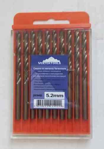 Сверло по металлу 5.2мм Р6М5К5 (Кобальт) Vertex (10шт)