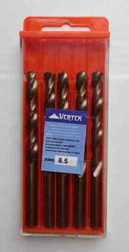 Сверло по металлу 8.5мм Р6М5К5 (Кобальт) Vertex (5шт)