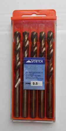 Сверло по металлу 9.5мм Р6М5К5 (Кобальт) Vertex (5шт)