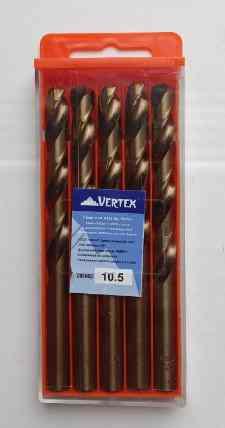 Сверло по металлу 10.5мм Р6М5К5 (Кобальт) Vertex (5шт)