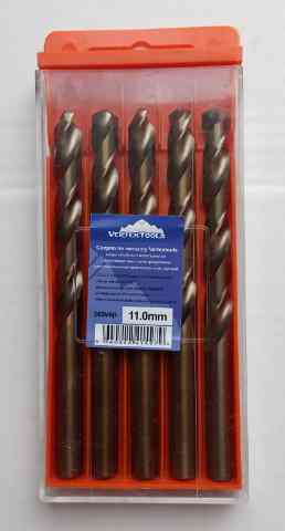 Сверло по металлу 11.0мм Р6М5К5 (Кобальт) Vertex (5шт)