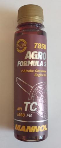 Масло MANNOL 120мл (для 2-х тактных бензопил/триммеров,полусинтетика,красное)