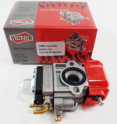Карбюратор для бензокосы (триммера) малый диффузор (33сс) Winzor Тайвань (ANABA)