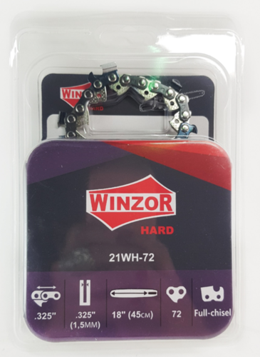 Цепь 0,325-1,5-72 звена Winzor HARD (для китайской пилы, ПРЯМОУГОЛЬНЫЙ ЗУБ)