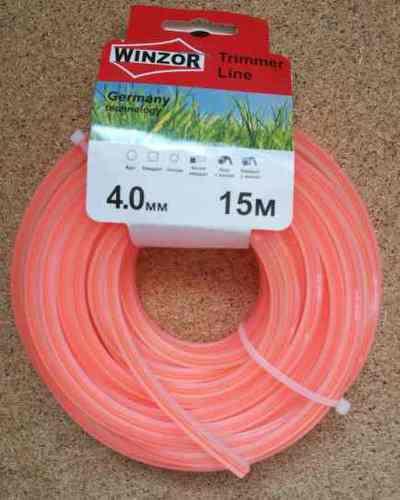 Леска 4,0*15 квадрат с жилой(полупрозрачный с оранжевой жилой) Winzor