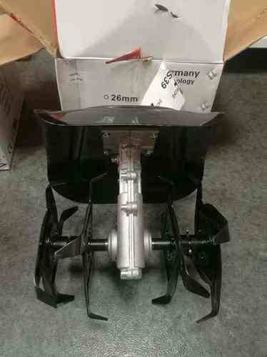 Насадка-культиватор 26мм 9шл (фрезы 4 луча цельные, щиток-металл)